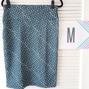 New LuLaRoe Cassie Skirt-Hunter Green/White